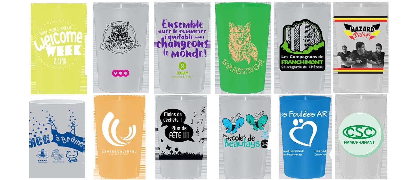 Faire Des Gobelets Personnalisés location et achat de gobelets en plastique réutilisables en